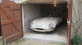 Jaguar type E 1961 barn find