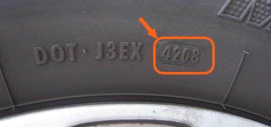 Date de fabrication d'un pneu