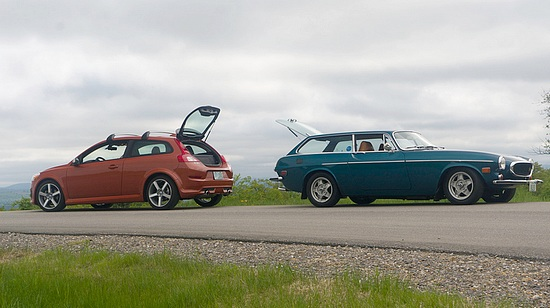 Young and Vintage Volvo